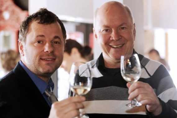Robert Gilet et son employeur, Louis Massicotte.