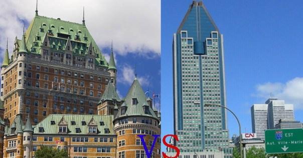 Québec vs Montréal
